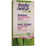 Body natur voskové pásky tělové normální a suchá pokožka Aloe Vera a arganový olej 16 ks