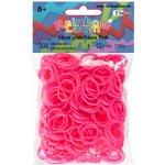 RAINBOW LOOM Original gumičky 300 kusov neónovo ružové