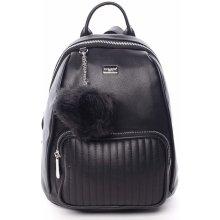Klarin moderní dámský batůžek s přívěskem černý 259cea5d08