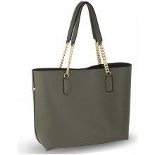244c24d12d Anna Grace šedá luxusní shopper kabelka s řetízkem 664