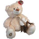 Made Plyš medvěd se šálou 28 cm