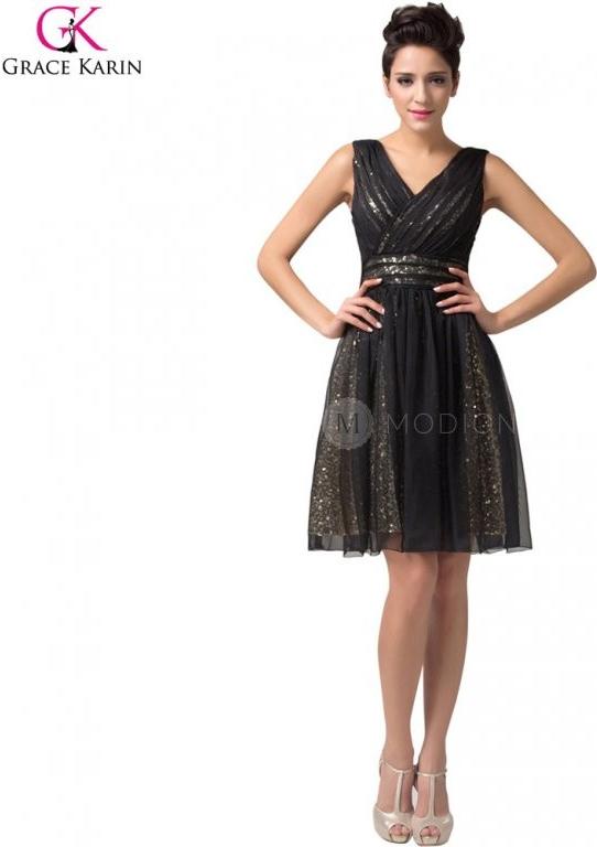Grace Karin společenské šaty krátké CL6156 černá ca7288acf1