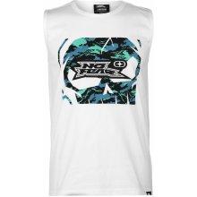 No Fear Graphic Vest Mens White Camo Logo