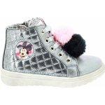 Disney by Arnetta Dívčí kotníkové boty Minnie - stříbrné c5e1ce3153