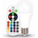 V-Tac E27 LED RGB Žárovka 6W Neutrální bílá