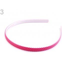 Plastová čelenka do vlasů s puntíky 3 růžová malinová 1 ks ... 846b960116