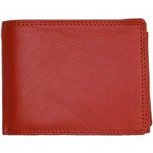 Pánská kožená peněženka velmi kvalitní červená s podšívkou