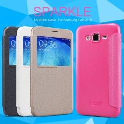 Pouzdro Nillkin Sparkle S-View Samsung Galaxy J3 J320 2016 zlaté 9c3fe5ce547