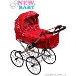 New Baby Hluboký kočárek pro panenky červený