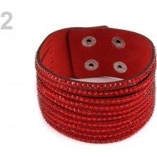 Náramek s kamínky 2 červená