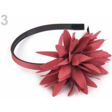 Čelenka s květem 12ks 3 růžová baroko
