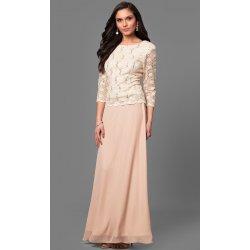 Glamor šaty pro plnoštíhlé na svatbu šampaň 647754f3e6