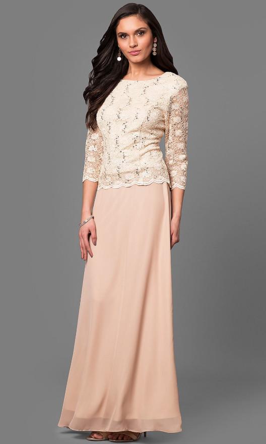 Šaty na svatbu Glamor šaty pro plnoštíhlé na svatbu šampaň ... 99943884873