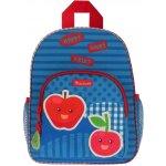 KIDZROOM batoh Veggies s kapsou modrý jablko
