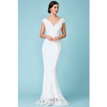d07d86be208 Svatební dlouhé šaty s vyšívanou krajkou