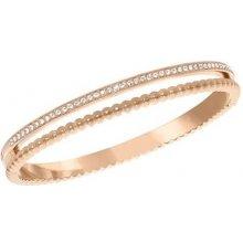 Swarovski náramek CLICK pozlacený růžovým zlatem čiré krystaly velikost S 5140109