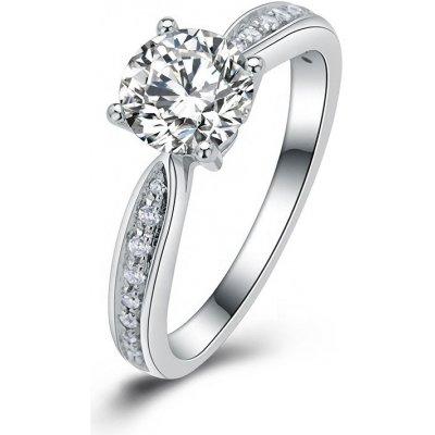 OLIVIE Stříbrný zásnubní prsten COURTNEY 4133 Velikost prstenů: 6 (EU: 51-53) Ag 925; ≤2,8 g.