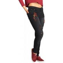 f4b9817242e Just Rhyse   Skinny Jeans Flora in black džíny dámské