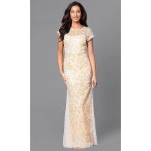 Glamor luxusní zlatavé dlouhé šaty na ples zlatá ccb38b3ca0