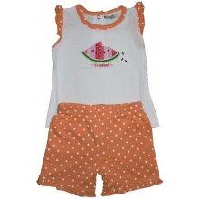 Wolf Dětské dívčí tričko + kraťasy S2022 Oranžové