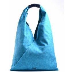 22cda1fe28 Bright Fashion kabelka vak velká A4 přes rameno tyrkysová