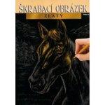 ARTLOVER Škrabací obrázek zlatý Kůň