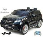 ChuChu Dvoumístný Mercedes GLS63 4x4 s náhonech všech EVA kol 24G DO LED osvětlení pérování voltmetrFMUSBTF čalouněné sedačky lakovaný černý
