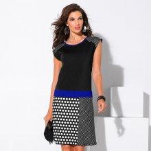 Blancheporte Šaty s grafickým vzorem černá/tmavě modrá