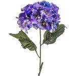 Umělá květina hortenzie modro-fialová
