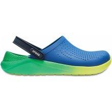 Crocs LiteRide Graphic Clog Blue Jean/Tennis Ball Green
