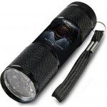 Euroswan Dětská hliníková LED baterka Batman vs. Superman černá Alu 9x2,5 cm
