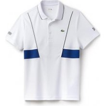 Lacoste Short Sleeved Ribbed Collar Shirt white/blue LACOSTE DH3325-JRL