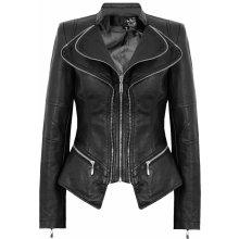 ATTENTIF Dámská koženková bunda BLACK BELL Černá