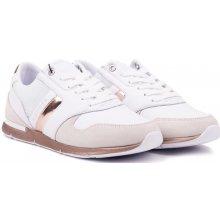 7eb19c1e0f1 Tommy Hilfiger bílé kožené tenisky Iridescent Light Sneaker