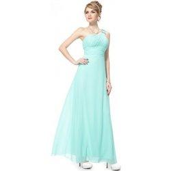 2aa325847982 Tyrkysové dlouhé společenské plesové svatební šaty na jedno rameno ...