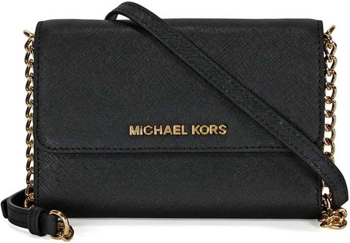 Michael Kors phone large crossobody kožená kabelka black alternativy -  Heureka.cz 0b91af8b6f6