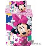Jerry Fabrics povlečení Minnie růžové 100x135 cm 40x60 cm