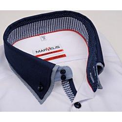 Pánská Košile Marvelis Modern Fit – bílá košile s dvojitým límcem 52db6fe6e4