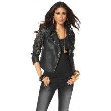 Laura Scott dámská krátká kožená bunda černá