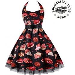 0f60cda28abe Šaty Rockabilly Retro Pin Up Barbara Cherries   Cupcakes Dress od ...