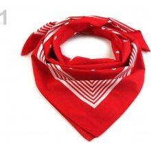Bavlněný šátek s puntíky Etex 70x70 cm červená 7d1a3a67d0