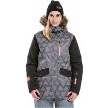 Meatfly Chelsea 2 Jacket B Grey Triangle Print/black