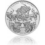 Česká mincovna Stříbrná mince 200 Kč 2018 Vydání Klaudyánovy mapy stand 13 g