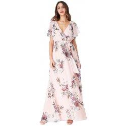 d2f4c6285f78 CityGoddess dlouhé šaty s květy Chirine broskvová alternativy ...