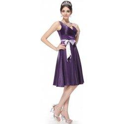 a81fba927449 Fialové krátké Společenské šaty koktejlky pro svatební matky či hosty
