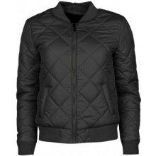 Golddigga Quilted Bomber Jacket Ladies Black
