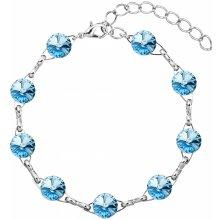 Evolution Group náramek bižuterie se Swarovski krystaly modrý 53001.3 aqua