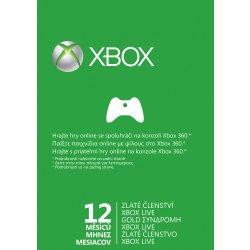 Xbox 360 Live Zlaté členství 12 měsíců