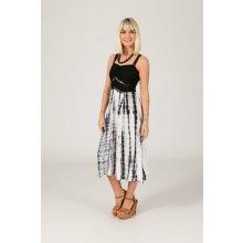 Etno letní šaty Batika černobílá bd8ea4dbb9