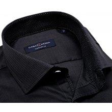 1d741ca5b60 Casa Moda Comfort Fit – tmavě modrá košile s vetkaným vzorem a stříbrnými  puntíky
